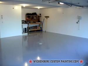 garage floor coating finishing