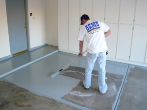 garage floor coating painting