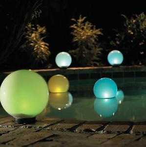 solar garden lights photo