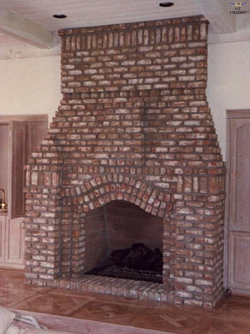 brick fireplace picture