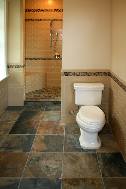mosaic bathroom tile flooring designs