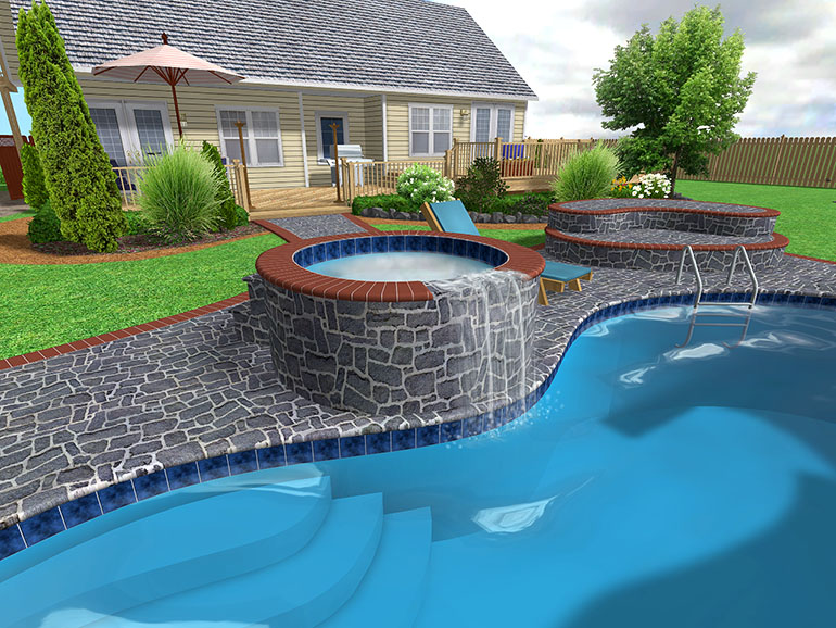Swiming pool designs home decorating ideas for Swimming pools for homes