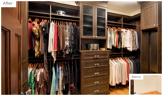Walk In Closet Designs Casual Cottage