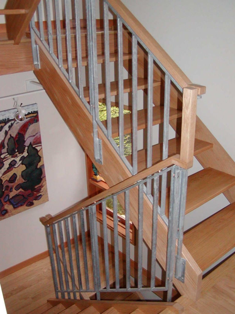 Stair railings interior kris allen daily for Wooden handrails for stairs interior