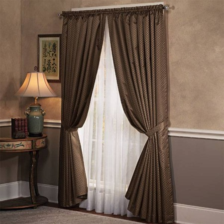 Living room curtains simple home decoration - Living room with curtains ...