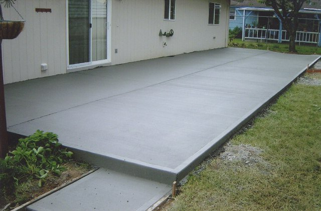poured concrete patio ideas pouring concrete pad design ideas