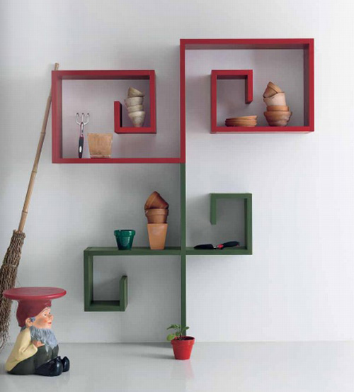 Bedroom Wall Shelves Design