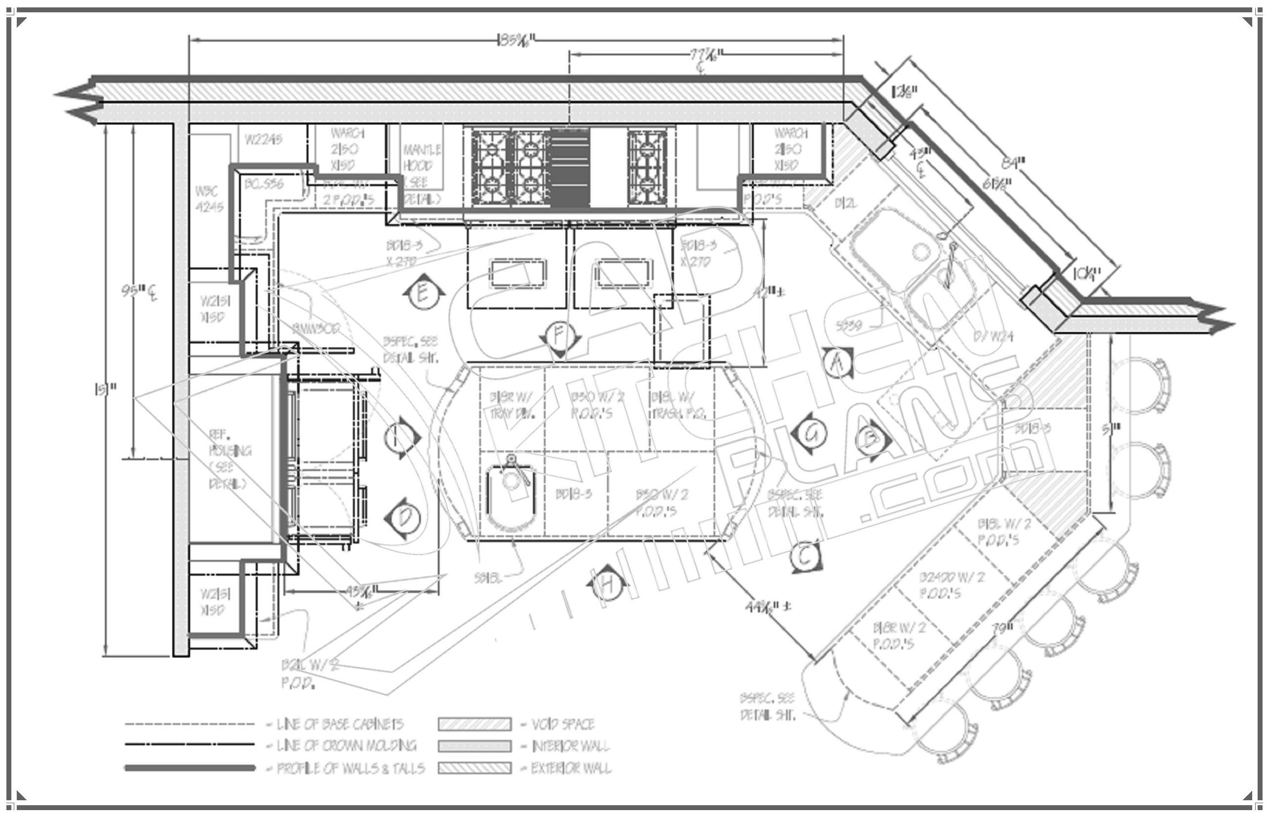 How i can find out the restaurant kitchen's floor plan layout