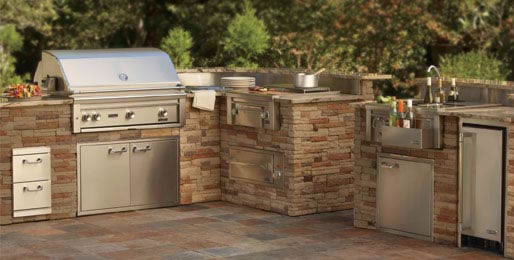 outdoor grills built in