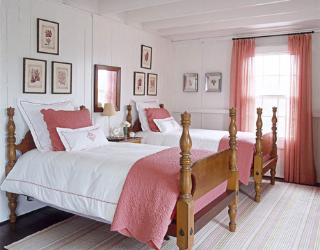 pink bedroom curtains pictures