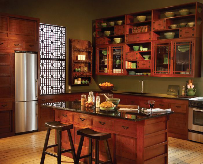 Custom kitchen cabinets kris allen daily for Asian kitchen cabinets design