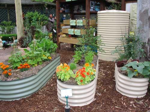 raised garden beds corrugated iron