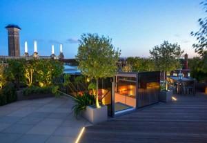 Another roof garden design