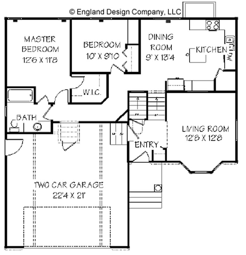 Carriage house plans split level house plans for Split entry floor plans