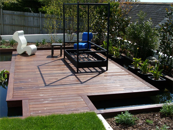 How to start a garden as a part of your house kris for Modern garden decking designs