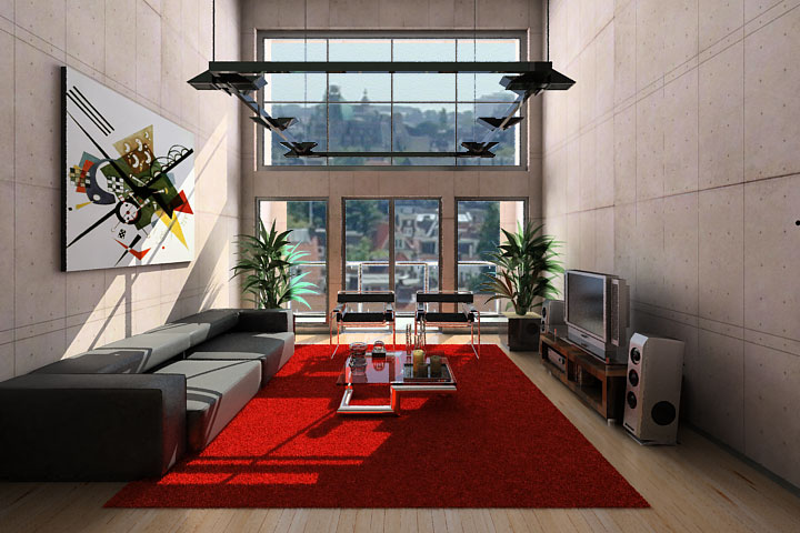 red rugs for living room