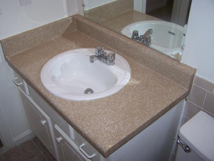 how to refinish a bathroom countertop you have access