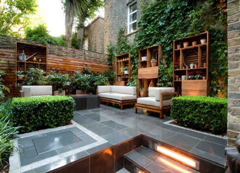 How to prepare an outdoor living room kris allen daily for Exterior garden design