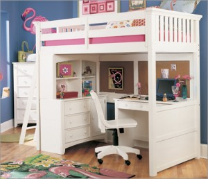 bunk beds with desk