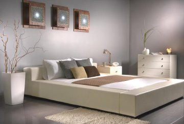 leather platform bed