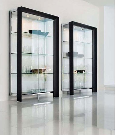 Store crystals in Glass cabinets