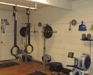 garage was transform to a gym