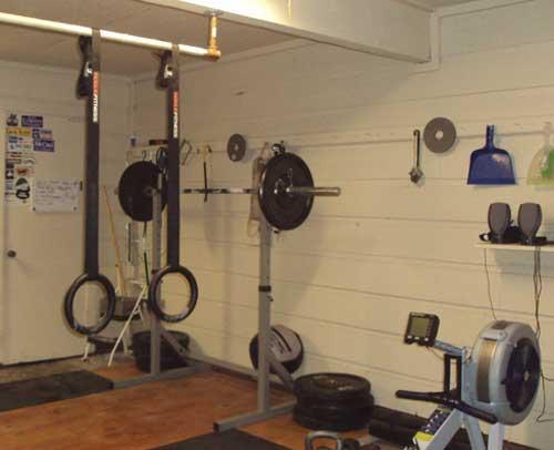garage was transform to a gym