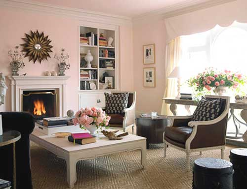 Pink and brown color for the interior