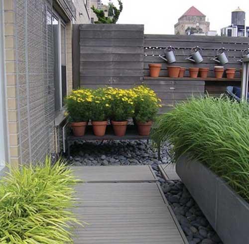 terrace garden in penthouse