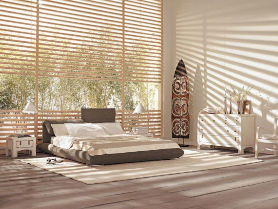 Bedroom with tribal style