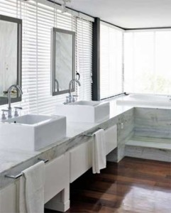 White theme bathroom