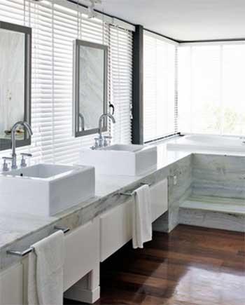 White theme bathroom