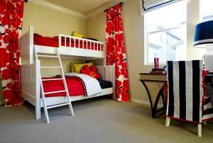 kids room furnishing illustration