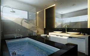 stylish bath room