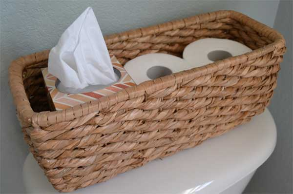 toilet papers in a basket