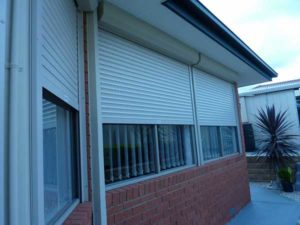 Security shutters for doors illustration