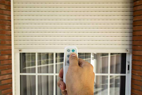 Security shutters for doors