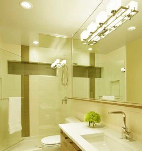 quality lighting in small bathroom