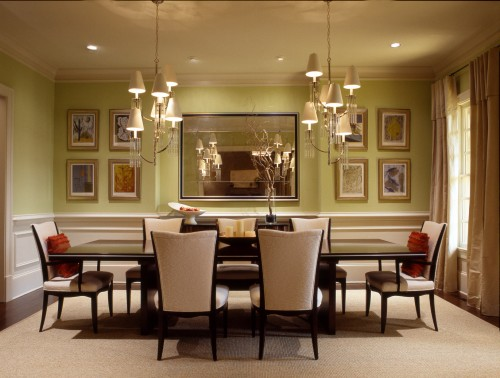 Dining room paint color ideas kris allen daily - Come disporre i quadri in sala ...