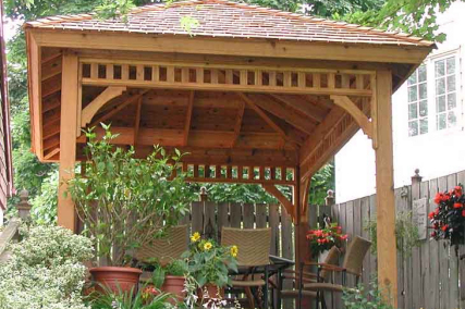 how to make a roof on metal gazeebo