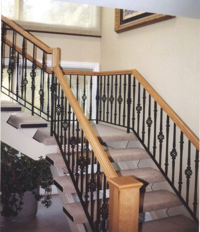 Stair railings interior kris allen daily for Handrail ideas for interior stairs