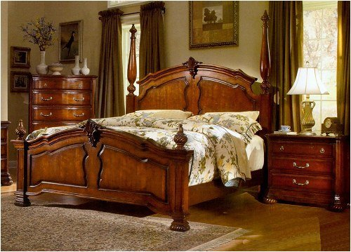 Bedroom Decor Dark Wood
