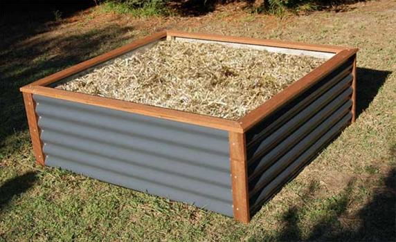 Corrugated Metal Roofing Raised Bed