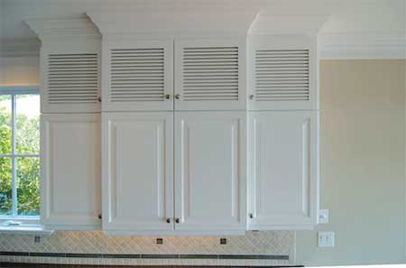 louvered in the kitchen courtesy of hollingsworthcabinetrycom